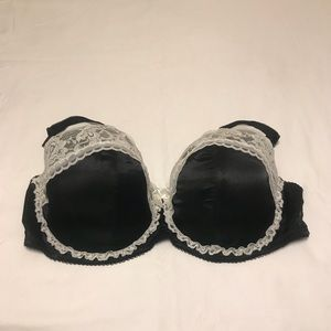 Sexy Black Bra with White Lace